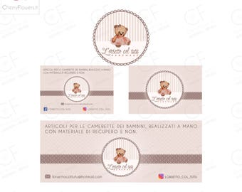 Custom Logo SET Design-business card graphics-Facebook cover Banner