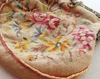 19th Century Petit Point Bag