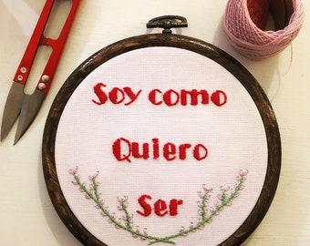 Custom Phrase - Embroidery art!