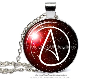 Atheist Outer Space Nebula Galaxy Stars Necklace -  Handmade