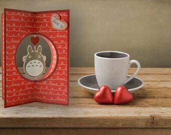 Valentine's Day card, Valentine's Day, 3d, romantic gift
