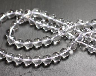 -Stone beads - 30pc rock Quartz Crystal 2mm 4558550010612 balls