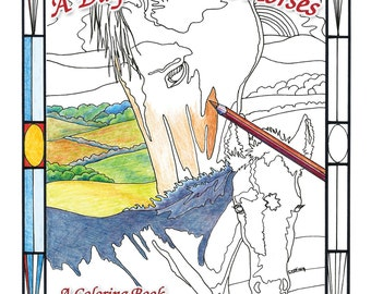 Adult Coloring Book - 'A Day With The Horses'