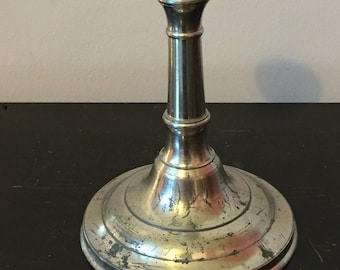 Small Vintage Metal Candlestick, Made in France