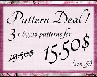 Super Pattern Deal! Amigurumi pattern deal! 20% off!