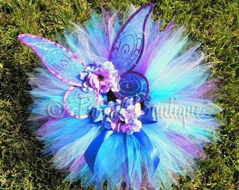 Raina - Sweet Baby Pixie Set - Handmade Infant/Toddler Pixie Wings and Pixie Tutu Set - newborn to 12 months - Makes A Great Keepsake