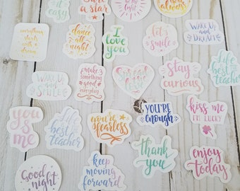 23 Pieces Inspirational Quotes Die Cut Stickers