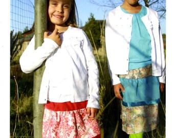 Twirl Skirt Sewing Card Pattern from Valori Wells Designs - Girls Sizes 4-6