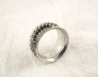 Sterling Silver Spinner Ring, 6