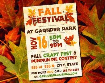 Custom Fall Festival Invite
