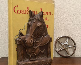 Vintage Syroco Wood Horse Head Single Bookend