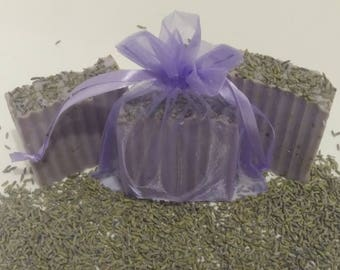 Lavender Calm homemade soap/olive oil/dried lavender leaves and bud/lavender essential oil/antiseptic/for all skin types/tightens loose skin