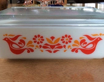 Vintage Pyrex  Friendship Refrigerator Dish # 503  1 1/2 Quart  w/ Lid