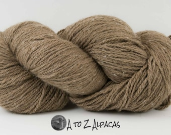 Aran Weight - Fawn - Alpaca Yarn - Made in Canada