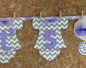 Vintage It's Twinsl Onesie Banner Hung by Clothespins