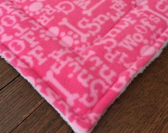 DOG Woof Crate mat Pet Mat Dog Cat Bed Pad PROFITS Benefit Animal Rescue Group
