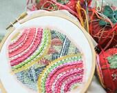 Colorburst Embroidery Single: Pysanka