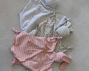 Lovey Blanket, Baby Blankie, Organic Lovey, stripes Security Blanket Baby Shower Gift