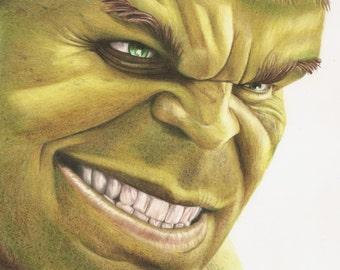 """8"""" x 10"""" Art Print -Hulk Smash-"""