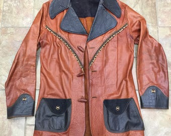Vintage leather jacket rockabilly Western women unique