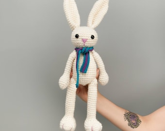 Rabbit soft toy crochet