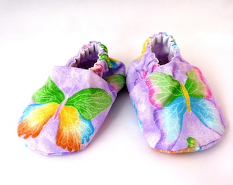 Butterfly Baby Shoes, Cloth Baby Shoes,Fabric Shoes,Spring Baby Shoes, Cotton, Sparkle Fabric, Baby Accessories, Baby Gift, Baby Shower Gift