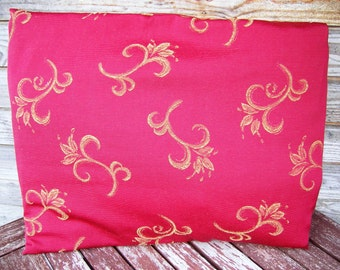 Dark Red and yellow  Pillow Cover, Decorative Pillow, Gift for Her, Dark Red Cushion, Throw pillow, Pillow sham, RE-USED