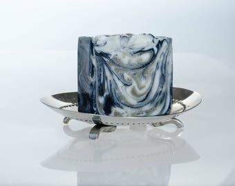 Charcoal and sea clay facial soap (all natural), detox soap, all natural soap, hand made soap, exfoliating soap