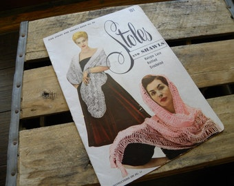Vintage Stoles and Shawls Pattern Book