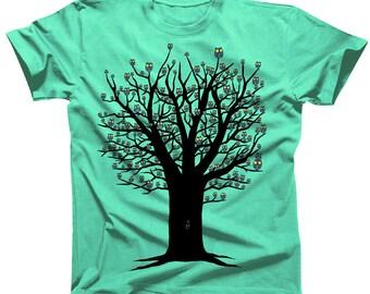 Owlie Tree Kawaii Cute Tshirt (womens shirts are a junior fit, ie they run small)