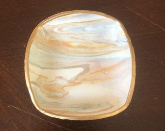 Marbled Ring Dish, Clay Ring Dish, Ring Holder, Trinket Dish, Jewelry Dish