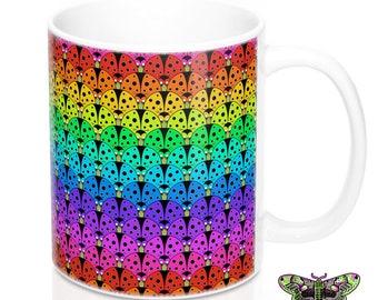 Rainbow Ladybirds Mug