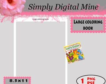 YOU Design!!! Coloring book Template!!