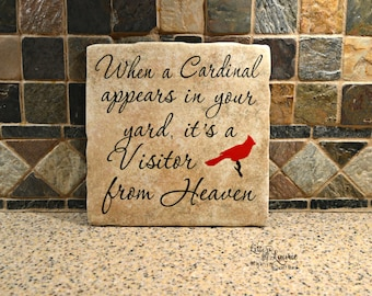 In loving Memory Gift, When a Cardinal appears in your yard, In loving memory sign, Memorial gift, Loss of a loved one, Remembrance,Sympathy