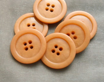 """Vintage  Beige 1930's Four Hole Buttons - 1 & 1/16"""""""