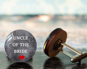 uncle of the bride , wedding cuff links , uncle cufflinks , uncle wedding gift