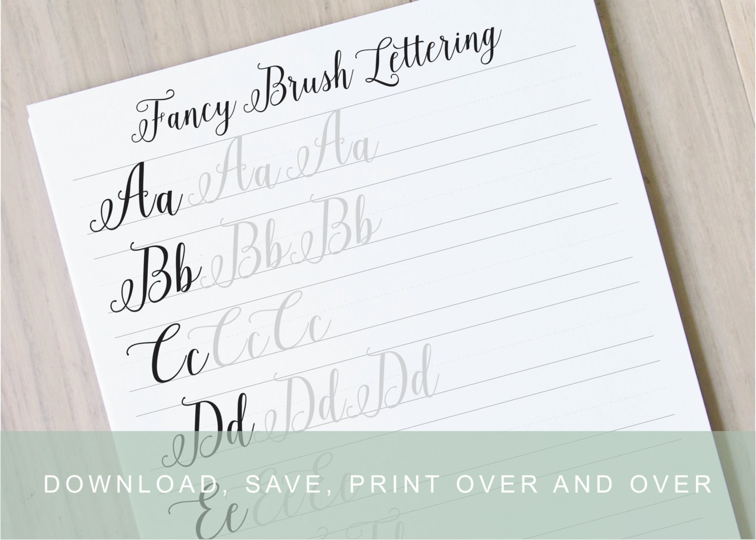 Fancy brush calligraphy lettering worksheets calligraphy practice