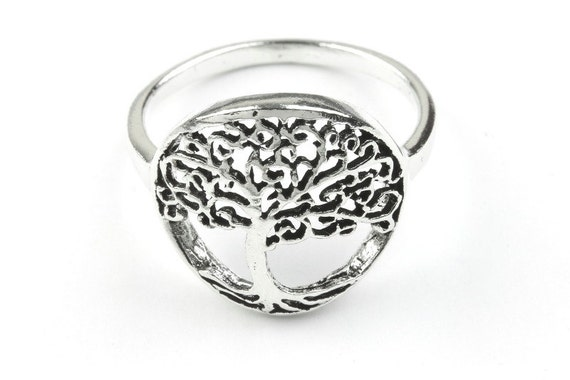 Sterling Silver Rooted Beauty Ring, Tree of Life ring, Nature Ring, Mystic, Boho Ring, Gypsy Ring
