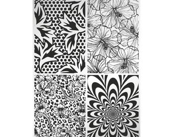 Blooming Four - stamping plate