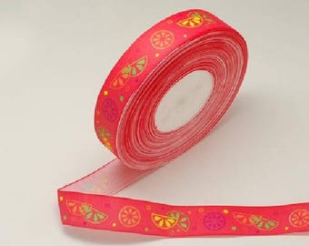Red ribbons printed 25 mm
