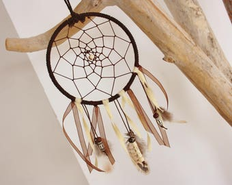 "Dream catcher Nature & Co ""spirit of wisdom"" Brown & beige"