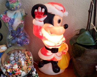 Vintage Blow Molded Christmas Mickey Mouse, est. 1950's