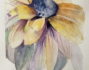watercolor flower, a daisy