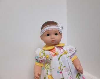 15 Inch Baby Doll Spring Dress 4pc set made to fit Bitty Baby