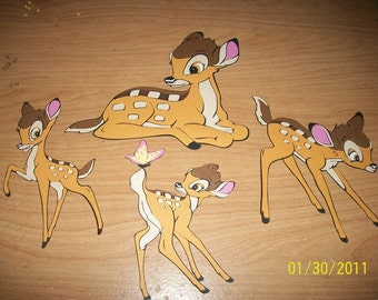 Bambi die cuts - set of 4