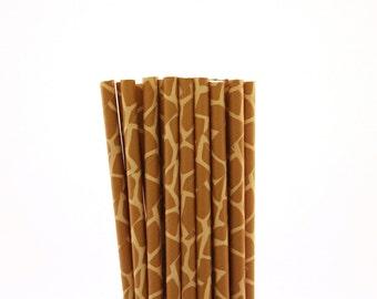 Giraffe Paper Straws-Giraffe Straws-Brown Straws-Zoo Party Straws-Safari Straws-Baby Shower Straws-Giraffe Party Paper Straws-Cake Pop Stick