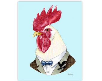 Rooster print 5x7