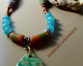 Evans Turquoise Pendant Necklace