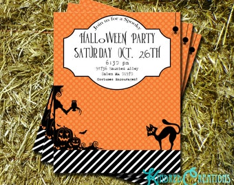 Halloween Party Invitation - Instantly Downloadable and Editable File Personalize with Adobe Reader