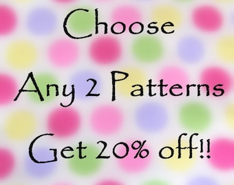Sewing Instructions pdf - Choose Two for 20 percent off